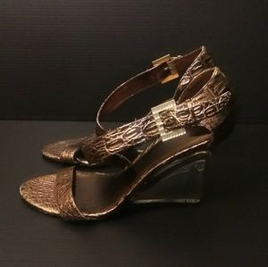 Baby Phat Shoes - Baby Phat clear wedges heels